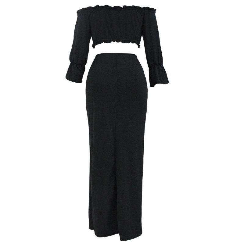 Black-Off-Shoulder-Crop-Top-Button-Down-Maxi-Skirt-Set-LC63010-2-4_conew1