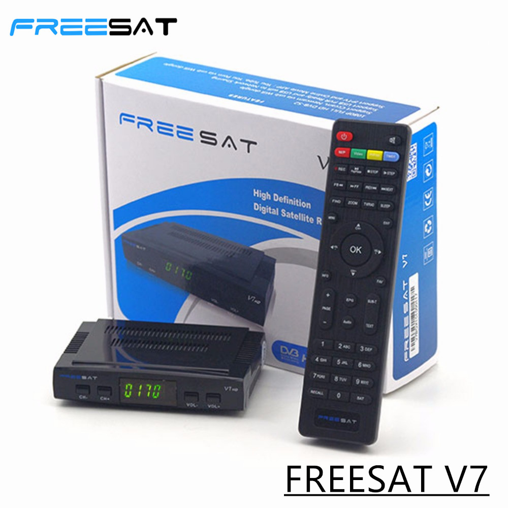 ФОТО Freesat V7 DVB-S2 HD Satellite Receiver Full 1080P DVB-S2 HD Support Set Top Box US EU Plug