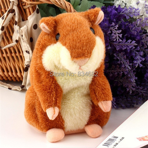 J.G Chen Lovely Talking Hamster Plush Toy Hot Cute Speak Talking Sound Record Hamster Talking Toys for Children Russian English 2018 talking hamster mouse pet plush toy learn to speak electric record hamster educational children stuffed toys gift 15cm