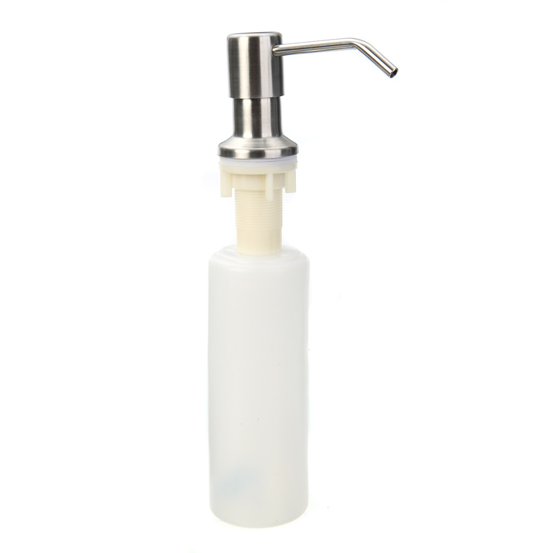 350ml Hand Soap Dispenser Pump Sink Kitchen Liquid Soap Dispenser Brushed  Nickel Head Plastic Bottle Bathroom Kitchen Hardware