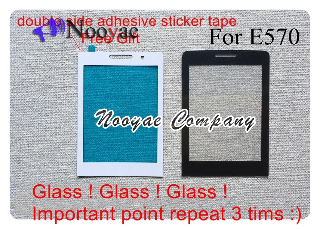 Novaphopat New Original Black Glass Panel For <font><b>Philips</b></font> Xenium E570 <font><b>E560</b></font> X5500 X623 Glass Lens Screen Replacement +tracking image