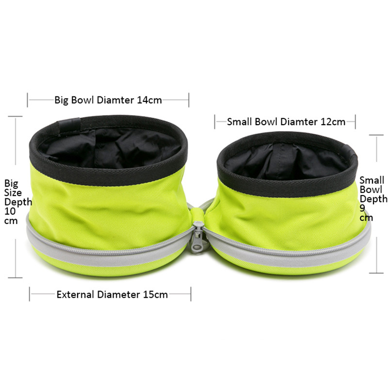 Dog bowl for food and water while traveling - Zoobig
