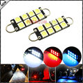 "2pcs 8-SMD-1210 1.72"" 43mm 211-2 212-2 214-2 561 Rigid Loop Festoon LED Bulbs For Car Side Door Courtesy Lights"