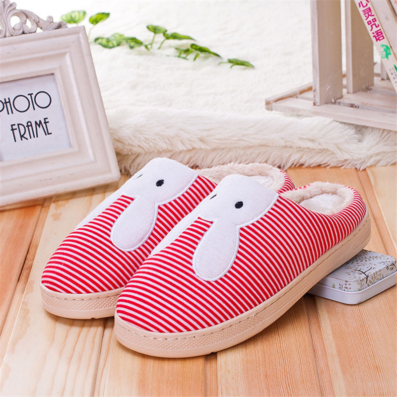 Slippers New Unisex Soft Warm Flock Winter Slippers Womens Mens Penis Slippers Cotton Sandal House Home Anti Slip Lover Shoes soft house coral plush slippers shoes white