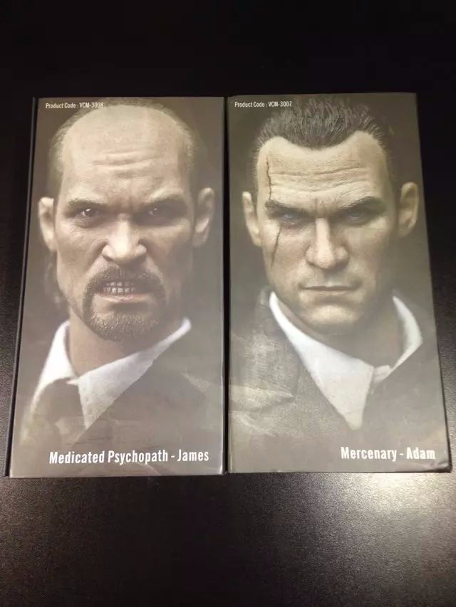 """Verycool 1:6 VCM-3008 Medicated Psychopath James Lynch Head Sculpt for 12/""""figure"""