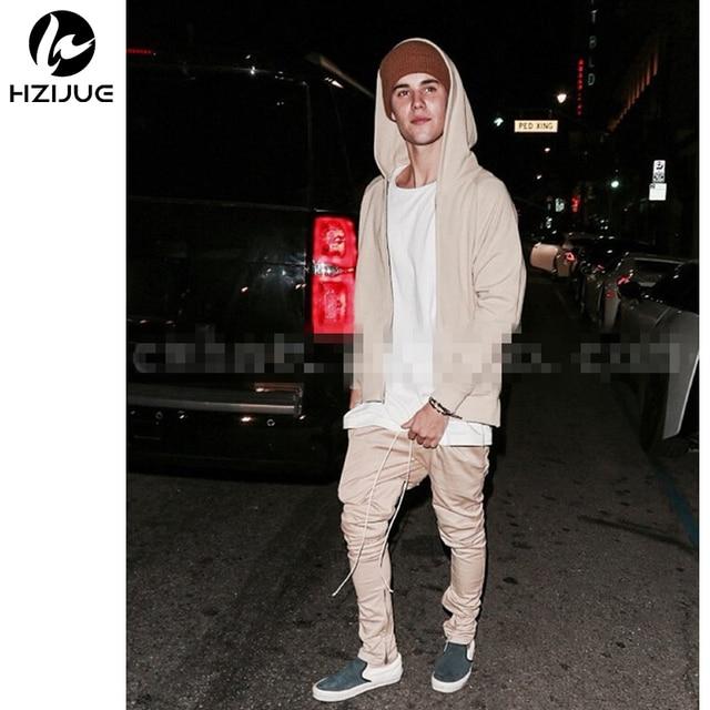 Топ хип-хоп одежда шаровары моды khaki/черный S-XL chinos мужская jogger молнии юниоры брюки-карго
