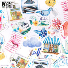 46pcs/box Seaside holiday paper Sticker DIY Decoration Diary Stickers kawaii School Scrapbooking label Stationery