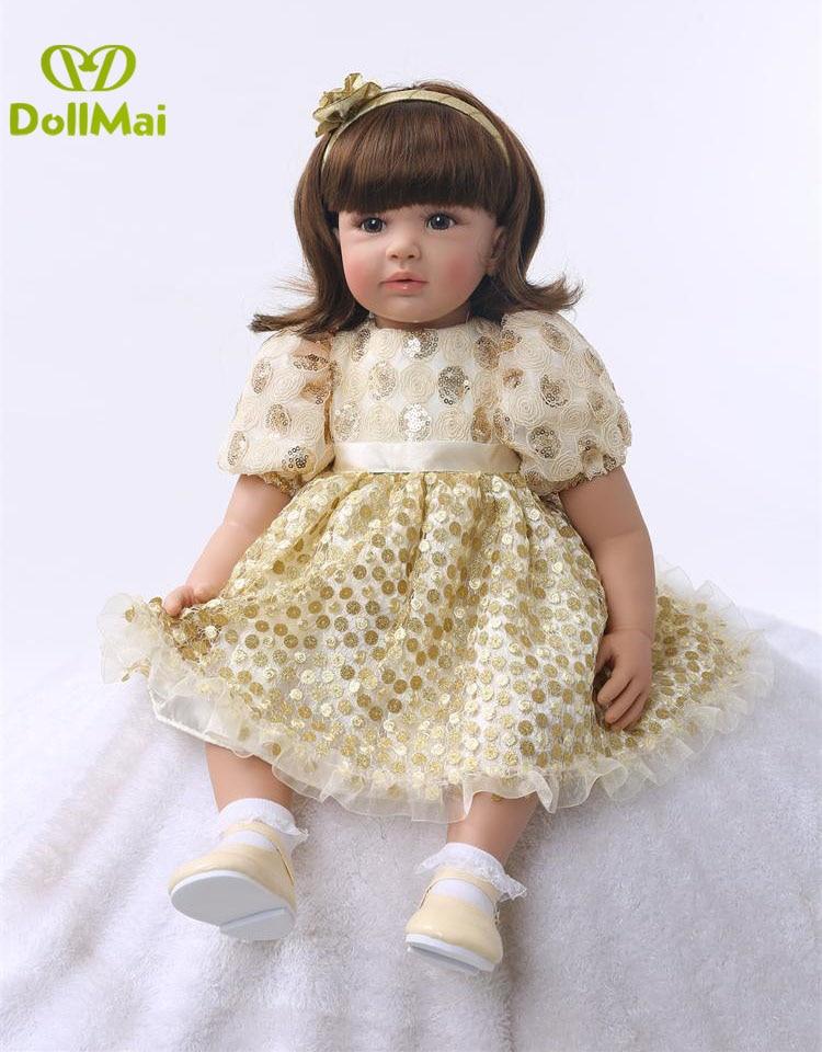 New Popular Bebe Reborn Doll 60cm Soft Silicone Reborn Baby Dolls Com Corpo De Silicone Menina Baby Dolls Girls Gifts Dollmai