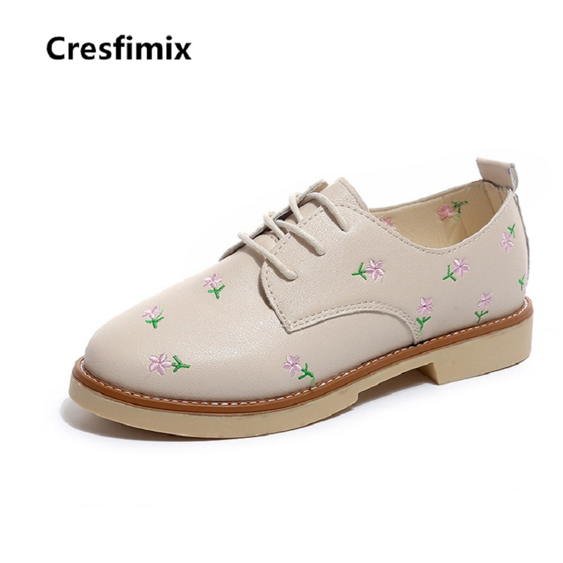 Cresfimix botas femininas women fashion spring & autumn lace up ankle boots lady casual high quality pu leather shoes cute shoes cresfimix women fashion spring