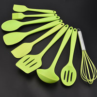 9pcs/set Cooking Utensils Set For Kitchen Spoon Spatula Ladle Scraper Oil Brush Egg Beater Tools Kitchen Accessories