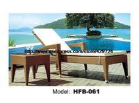 Fashion Rattan Lying Chair Sun Lounger Table Set Leisure Outdoor Lying Sofa Bed Swing Pool Furniture Rattan Chair HFB061