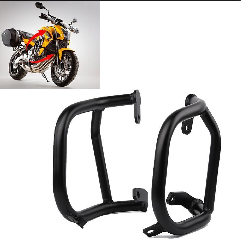 Upper Black Aluminum Motorcycle Engine Guard Crash Bar Guard Frame Protection Protector For 2015-2016 Honda CB650F 1 Pair