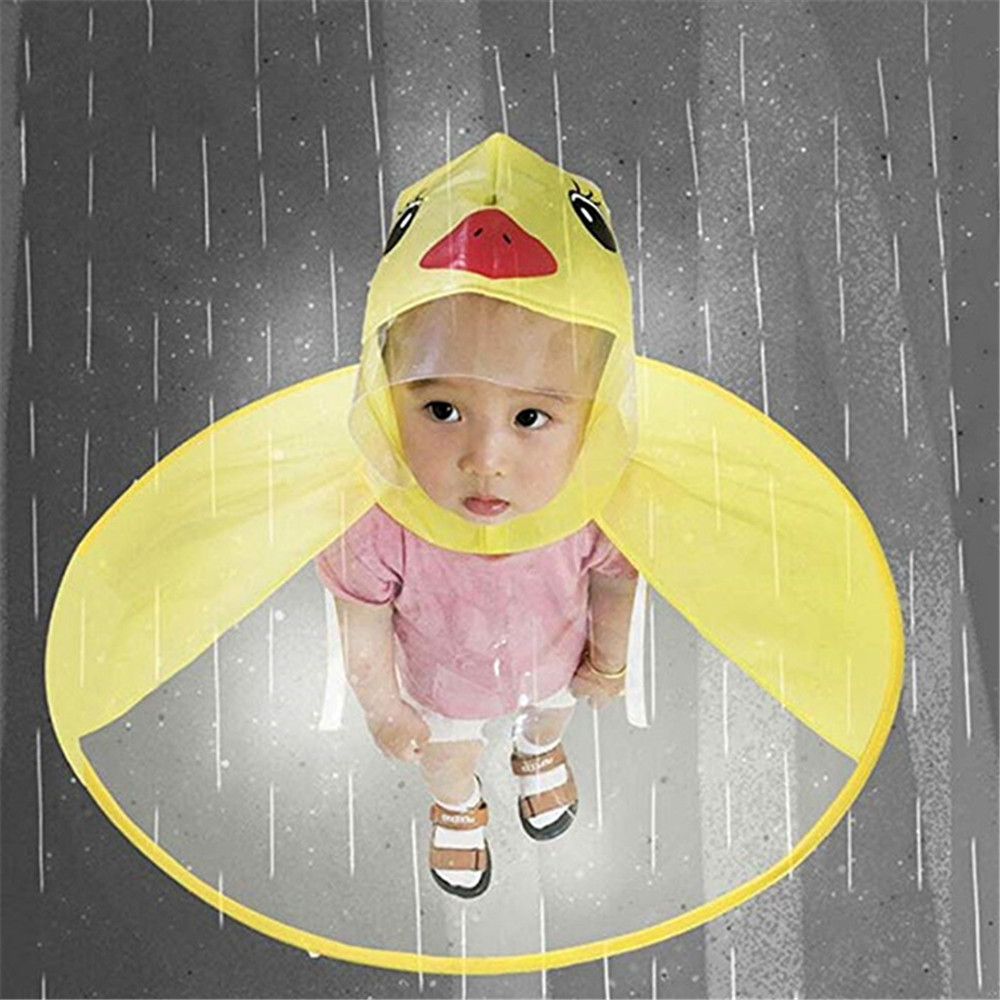 Toy Sports Raincoat 2-8 Year Cartoon Dusk Creative Yellow Appearance UFO Great Gift For Children Game Outdoor