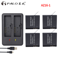 4Pcs Original AZ16 1 Battery FOR Xiaomi YI lite 4K 4K+LED USB Dual Charger for Xiaomi Yi 2 4K Battery Xiao Mi Yi