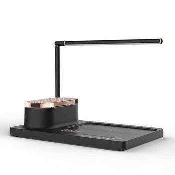 Lámpara de mesa de Audio Led para hogar inteligente, lámpara de escritorio de carga inalámbrica, lámpara de libro de ojos, enchufe del Reino Unido