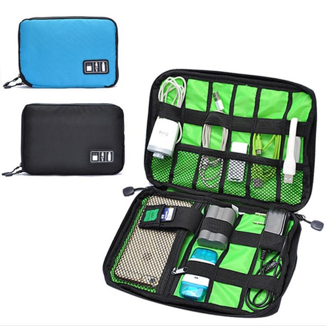 Large Single Layer Cable Organizer Bag Travel Carry Case Usb Flash Drive Storage Bags