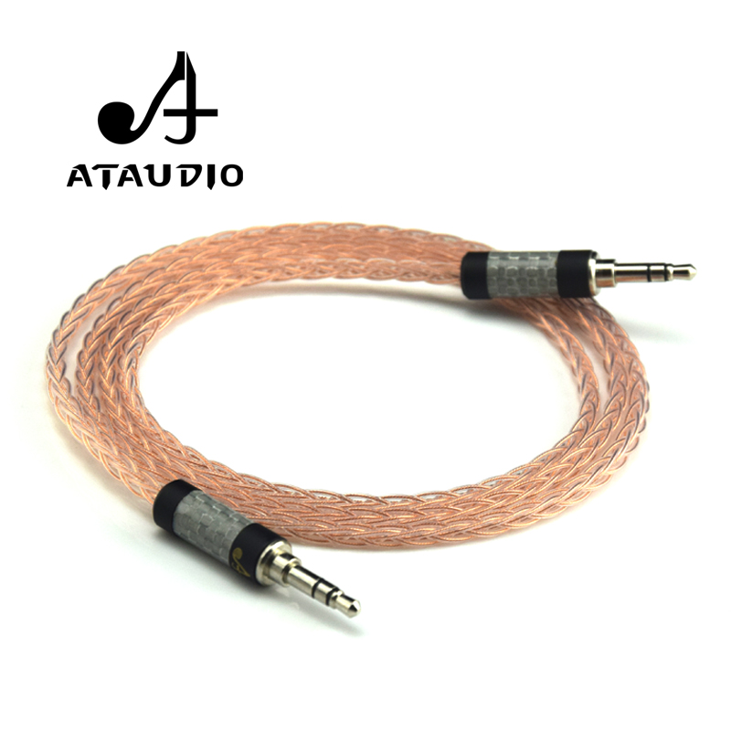 ATAUDIO Hifi 3 5mm Jack Stereo Aux Cable Hi end Pure Occ 3 5mm Male to
