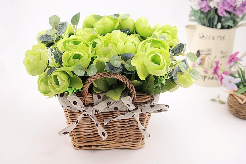 Rattan square basket artificial flower overall floral silk flower handmade lavender - Wedding Depository - HTB1pP2PGFXXXXbcaXXXq6xXFXXX7