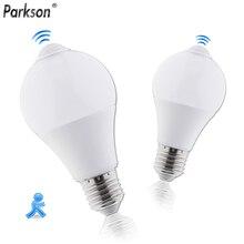 E27 светодиодный лампы движения PIR Сенсор светильник 85-265V 110V 220V 5W 7W SMD5730 ночное лестничный Светильник Коридор автоматический Сенсор смарт-лампа