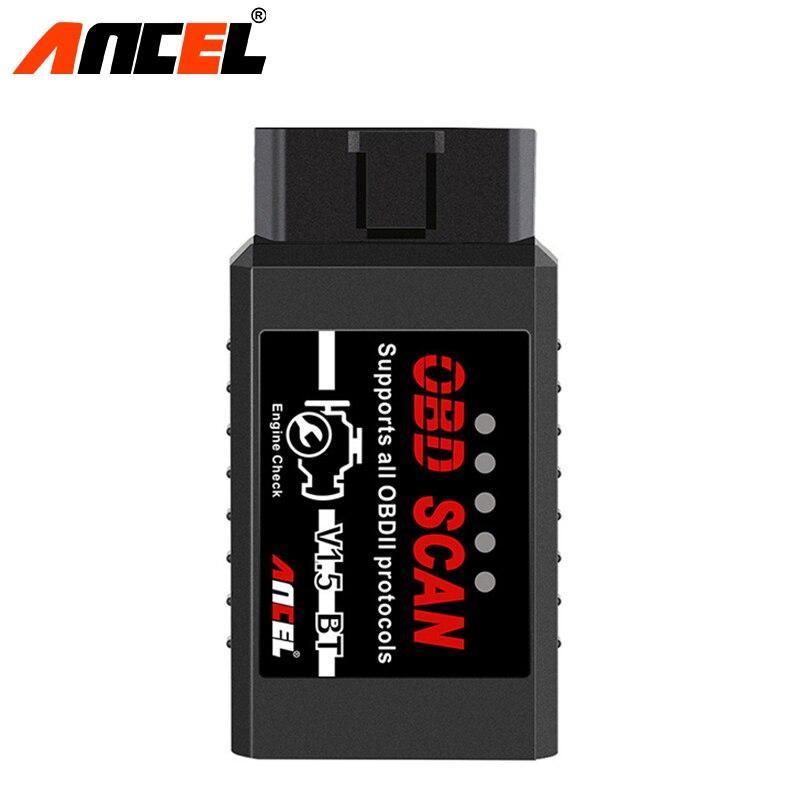 Ancel OBD2 V1.5 ELM327 do Scanner Ferramenta De Diagnóstico Bluetooth Suporta Android Com PIC18F25K80 ELM 327 Leitor de Código de Carros a Diesel
