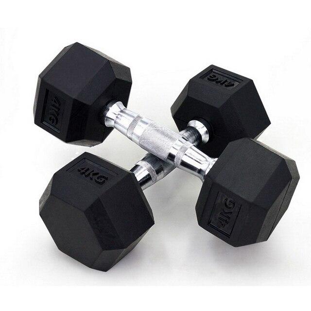 7 5 kg * 1 st zes hoek vaste dumbbells mannen met rubber cover7 5 kg * 1 st zes hoek vaste dumbbells mannen met rubber cover, halters voor