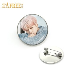 TAFREE BTS love yourself Personal picture Brooch Cool Men's BTS Brooch Antique Silver Plated for Women pin Jewelry BTS156(China)