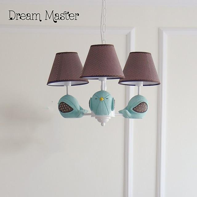 Americano lampadari semplice birds per bambini ragazzi - Lampadari per camere ragazzi ...