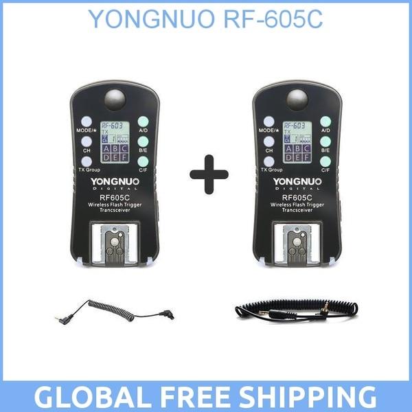 Wireless Flash Trigger for Canon YONGNUO RF605C RF 605C RF-605 C