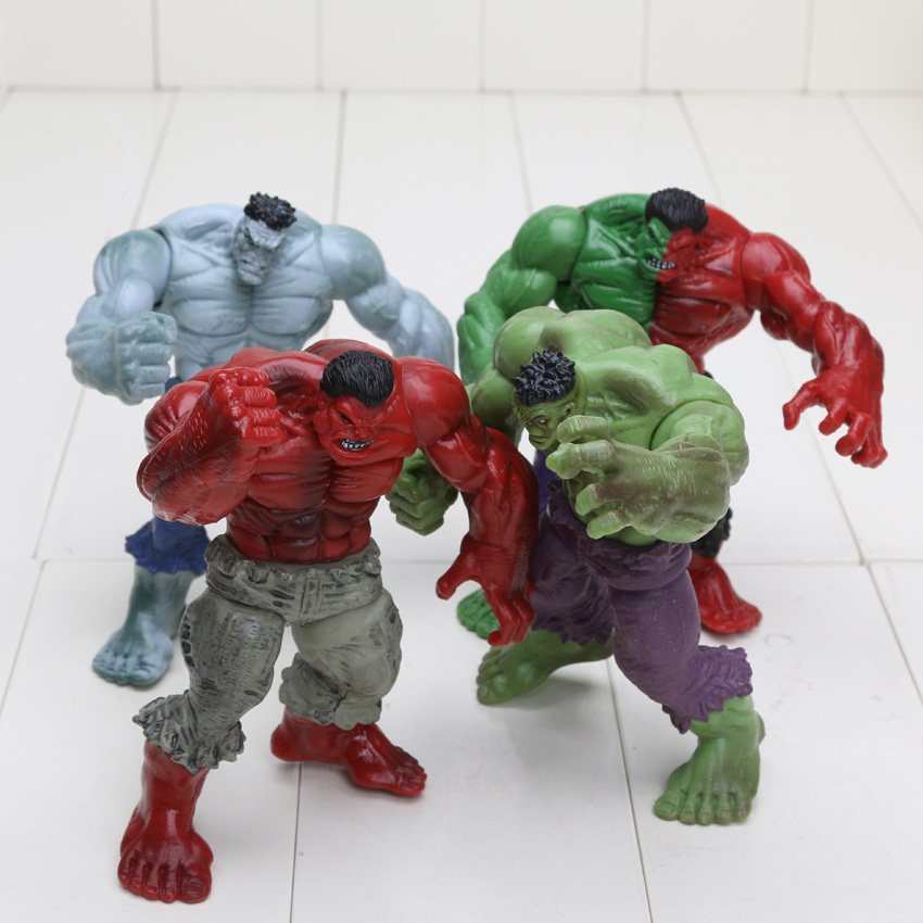 Hasbro Marvel 4pcs/set 12cm Avengers 2 Hulk Compound Red Grey Green PVC Action Figure model Toys