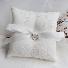 Top Quality Elegant with Satin Wedding Ring Pillow Cushion Lace Bow Bearer Pillows Party Decoration supplies Various Size