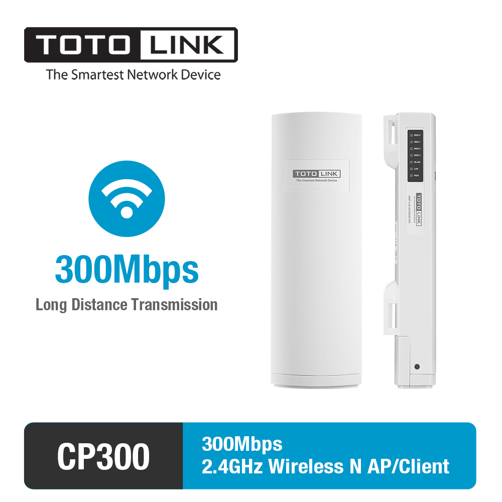 TOTOLINK CP300 300 Mbps 2.4 GHz bande haute puissance extérieure AP/Client avec antenne 12 dBi couvrant 8 ~ 10 KM