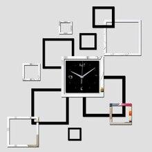 Акция, новые настенные часы diy, часы, наклейки, многокомпонентная посылка, кварцевые, для гостиной, акриловые зеркальные наклейки, современные
