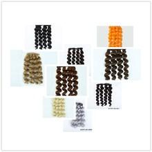 Allaosify парики для шарнирной куклы 15 см * 100 см Цвета: черный, золотой коричневый серебряный цвет короткие вьющиеся волосы для 1/3 1/6 1/4 куклы DIY