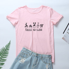 4d5d839ff68 OLN 2018 Harajuku Summer Women Tshirt Plants Are Friends Graphic Tee Shirt  Femme Kawaii Cotton Tops Funny T Shirts Women