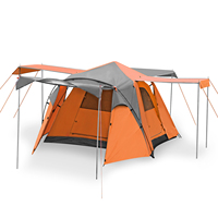 3 season tent 4 persons,Large Camping Tent Family Outdoor Portable Tent waterproof hiking