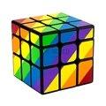 Mais novo yj moyu desiguais 56mm 3x3x3 revestido elenco enigma cubo mágico cubos cubo profissional kubik cubo magico kub presente brinquedos