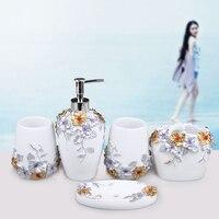 Специальный Европейский ванная комната наборы пять комплектов зубной щетки кадров Смола набор с подносом
