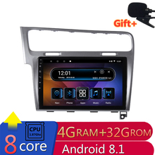 10 «4 г оперативная память 2.5D ips 8 ядер Android 8,1 автомобильный DVD мультимедийный плеер gps для Volkswagen VW Гольф 7 2013 2014 2015 радио navigaton