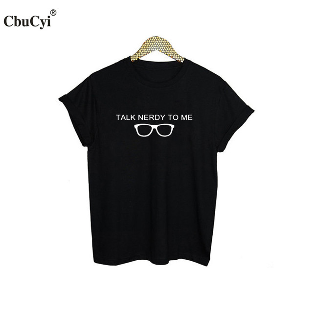 fa19f4da9 Talk nerdy To Me Geek T-Shirt - Nerd Glasses Graphic Tees Women Funny Geeky  T shirt College Students tshirt