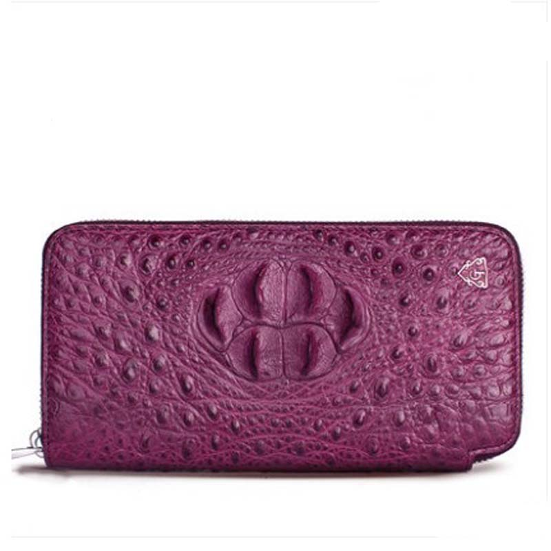 gete 2019 new New real crocodile wallet female long zipper money clip Thai leather lady  hand bag women clutchgete 2019 new New real crocodile wallet female long zipper money clip Thai leather lady  hand bag women clutch