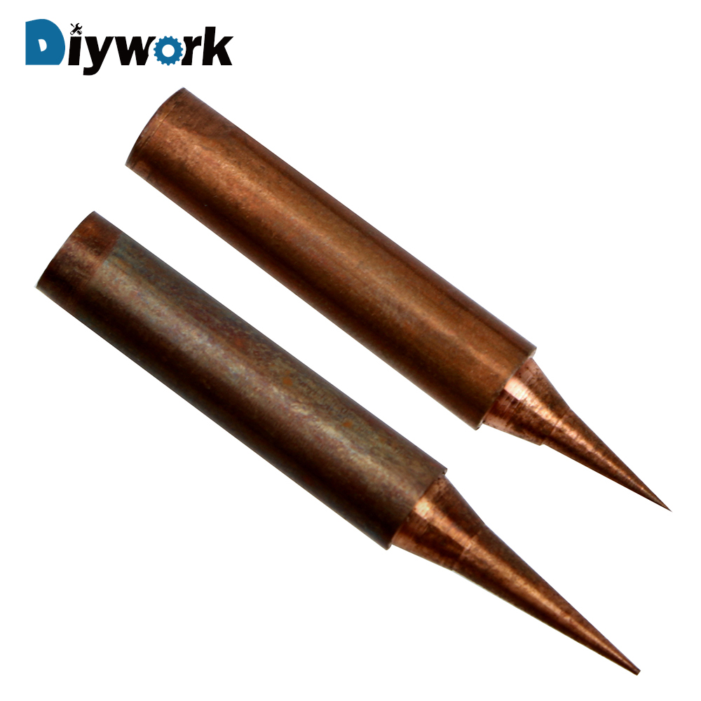DIYWORK Copper Soldering Iron Tip For Solder Station Tools 900M-T-I 900M-T-SI Non-magnetic Oxygen-free
