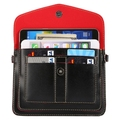6.3''Universal Fashionable Vertical Four 180cm Layers Multi-function Leather Shoulder Bag & Card Slots for iPhone / Samsung etc
