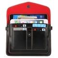 6.3 ''universal verticales de moda cuatro 180 cm capas multi-función de cuero bolso y ranuras de tarjeta para iphone/samsung etc