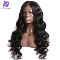 Luffy Ponytail Silk Base Full Lace Wig Brazilian Non Remy Human Hair Wigs With Body Wave