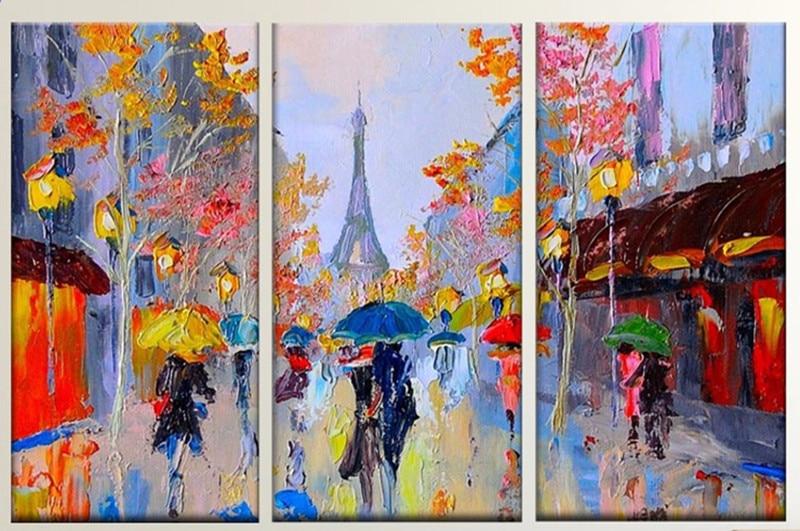 Online Buy Wholesale paris street scene oil painting from