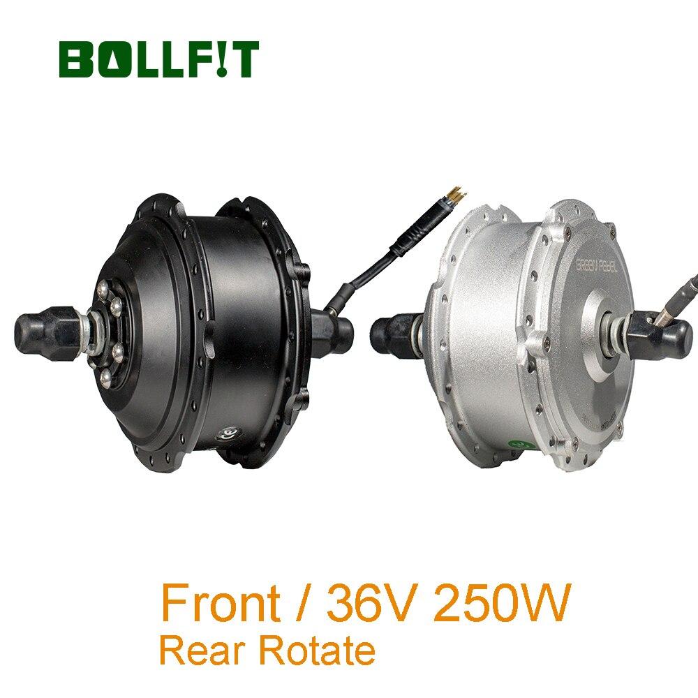 BOLLFIT 36V 250W avant arrière rotation moteur vert Pedel MXUS haute vitesse sans balais engrenage moyeu moteur e-bike moteur avant roue