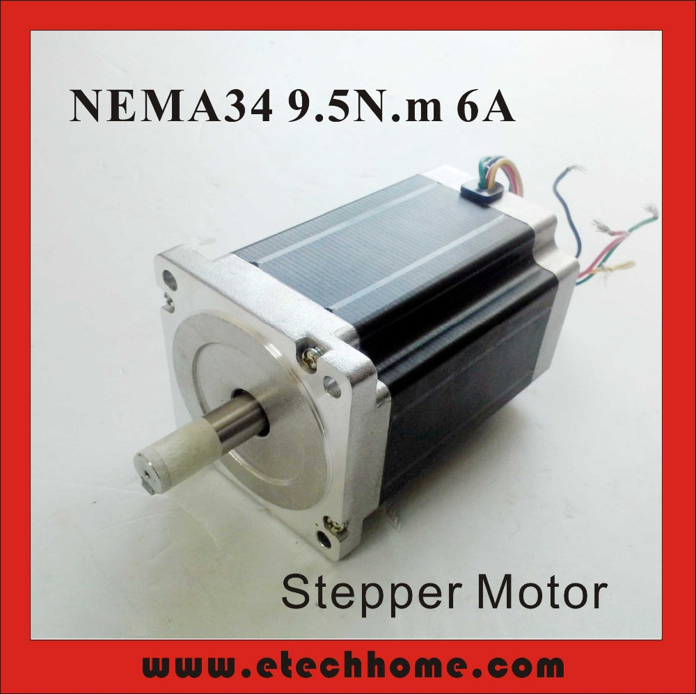 ФОТО NEMA 34 Stepper Motor 9.5 N.m (1319 oz-in) 6A Body 126mm CNC NEMA34 Stepping Motor CE ROHS