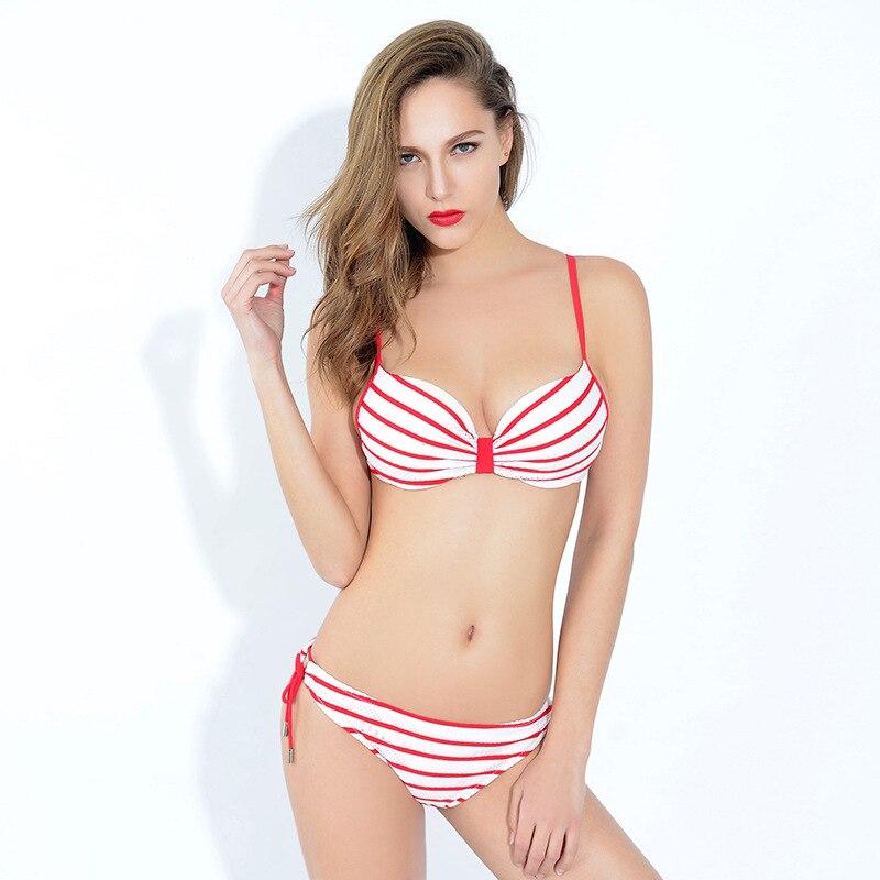 Sexy bikini Push Up Plus Size Swimwear Striped Swimming Set Women Tankini Biquinis Bathing Beach Monokini Swimsuits with Shorts