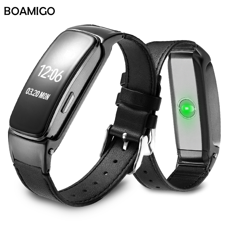 Smart Watch BOAMIGO Brand Bracelet Wristband Leather Strap Watches Message Reminder Pedometer Calorie Bluetooth For IOS Android стоимость
