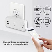 Smart Plug Wifi Smart Socket Remote Voice control 2 usb poort socket Tuya Smart Leven App US Plug Alexa Google thuis Mini IFTTT